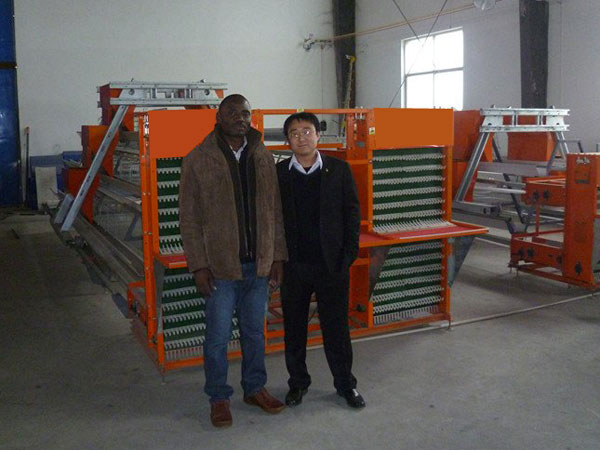 Ghana Customers Purchased Poultry Cage System for Layers for sale