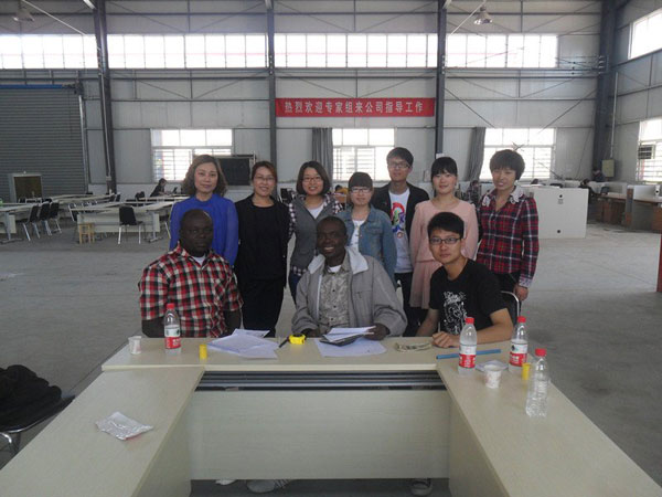 Nigeria Customers' Visit to Lilian Industry to buy poultry cages
